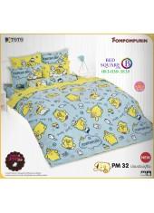ผ้าปูที่นอนผ้านวมลายปอมปอมปูริน Pom Pom Purin PM32 ชุดเครื่องนอน TOTO