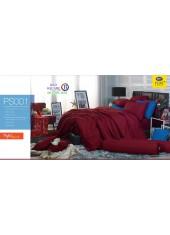 ชุดเครื่องนอน Satin Plus ผ้าปูที่นอน ผ้านวมซาตินพลัส PS001 สีแดง