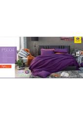 ชุดเครื่องนอน Satin Plus ผ้าปูที่นอน ผ้านวมซาตินพลัส PS004 สีม่วง