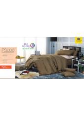 ชุดเครื่องนอน Satin Plus ผ้าปูที่นอน ผ้านวมซาตินพลัส PS006 สีน้ำตาล