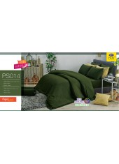ชุดเครื่องนอน Satin Plus ผ้าปูที่นอน ผ้านวมซาตินพลัส PS014 สีเขียว