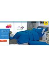 ชุดเครื่องนอน Satin Plus ผ้าปูที่นอน ผ้านวมซาตินพลัส PS016 สีน้ำเงิน
