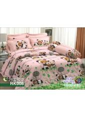 ผ้าปูที่นอนผ้านวม กันไรฝุ่น กันภูมิแพ้ ลายริลัคคุมะ Rilakkuma RK008 พื้นสีชมพู Jessica