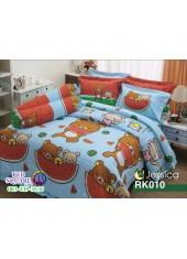 ผ้าปูที่นอนผ้านวม กันไรฝุ่น กันภูมิแพ้ ลายริลัคคุมะ Rilakkuma RK010 พื้นสีฟ้า Jessica