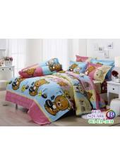 ผ้าปูที่นอนผ้านวม กันไรฝุ่น กันภูมิแพ้ ลายริลัคคุมะ Rilakkuma RK011 พื้นสีฟ้า Jessica