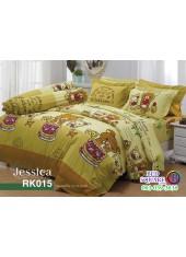 ผ้าปูที่นอนผ้านวม กันไรฝุ่น กันภูมิแพ้ ลายริลัคคุมะ Rilakkuma RK015 พื้นสีเหลือง Jessica