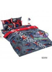 ผ้าปูที่นอนผ้านวมลายสไปเดอร์แมน Spider Man SD30 ชุดเครื่องนอน TOTO