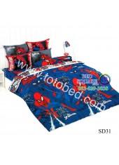 ผ้าปูที่นอนผ้านวมลายสไปเดอร์แมน Spider Man SD31 ชุดเครื่องนอน TOTO