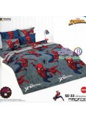 ผ้าปูที่นอนผ้านวมลายสไปเดอร์แมน Spider Man SD33 ชุดเครื่องนอน TOTO