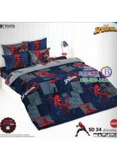 ผ้าปูที่นอนผ้านวมลายสไปเดอร์แมน Spider Man SD34 ชุดเครื่องนอน TOTO