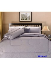 ผ้าปูที่นอน ผ้านวม พรีเมียร์ซาติน PREMIER SATIN SP10 สีเกร์