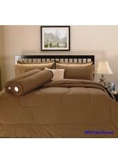 ผ้าปูที่นอน ผ้านวม พรีเมียร์ซาติน PREMIER SATIN SP11 สีช๊อกโกแลต