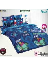 ชุดเครื่องนอนลีโล่ แอนด์ สติทช์ Lilo & Stitch TOTO ผ้าปูที่นอน ผ้านวม ลิขสิทธิ์แท้โตโต้ ST33