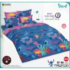 ชุดเครื่องนอนลีโล่ แอนด์ สติทช์ Lilo & Stitch TOTO ผ้าปูที่นอน ผ้านวม ลิขสิทธิ์แท้โตโต้ ST40