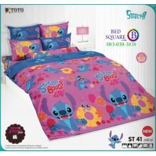ชุดเครื่องนอนลีโล่ แอนด์ สติทช์ Lilo & Stitch TOTO ผ้าปูที่นอน ผ้านวม ลิขสิทธิ์แท้โตโต้ ST41