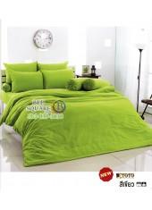 ผ้าปูที่นอนผ้านวมโตโต้ สีพื้น สีเขียวสด TT-GREEN ชุดเครื่องนอน TOTO