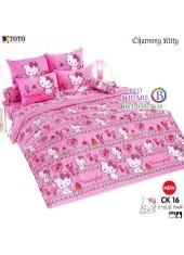 ชุดเครื่องนอนชาร์มมี่ คิตตี้ สีชมพู Charmmy Kitty TOTO ผ้าปูที่นอน ผ้านวม ลิขสิทธิ์แท้โตโต้ CK16