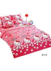 ผ้าปูที่นอนผ้านวมลายเฮลโลคิตตี้ Hello Kitty KT34 ชุดเครื่องนอน TOTO