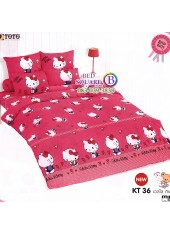 ผ้าปูที่นอนผ้านวมลายเฮลโลคิตตี้ Hello Kitty KT36 ชุดเครื่องนอน TOTO