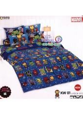 ชุดเครื่องนอนมาร์เวล คาวาอี้ Marvel TOTO ผ้าปูที่นอน ผ้านวม ลิขสิทธิ์แท้โตโต้ KW01