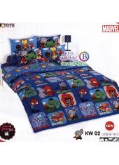 ชุดเครื่องนอนมาร์เวล คาวาอี้ Marvel TOTO ผ้าปูที่นอน ผ้านวม ลิขสิทธิ์แท้โตโต้ KW02