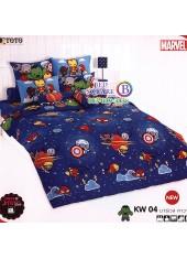 ชุดเครื่องนอนมาร์เวล คาวาอี้ Marvel TOTO ผ้าปูที่นอน ผ้านวม ลิขสิทธิ์แท้โตโต้ KW04