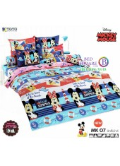 ชุดเครื่องนอนมิกกี้เมาส์ Mickey Mouse TOTO ผ้าปูที่นอน ผ้านวม ลิขสิทธิ์แท้โตโต้ MK07