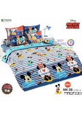 ชุดเครื่องนอนมิกกี้เมาส์ Mickey Mouse TOTO ผ้าปูที่นอน ผ้านวม ลิขสิทธิ์แท้โตโต้ MK08