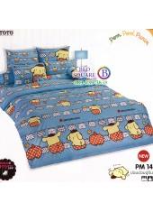 ผ้าปูที่นอนผ้านวมลายปอมปอมปูริน Pom Pom Purin PM14 ชุดเครื่องนอน TOTO