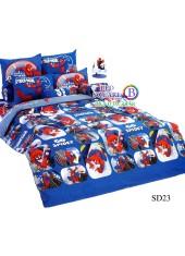 ผ้าปูที่นอนผ้านวมลายสไปเดอร์แมน Spider Man SD23 ชุดเครื่องนอน TOTO