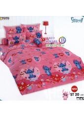ชุดเครื่องนอนลีโล่ แอนด์ สติทช์ Lilo & Stitch TOTO ผ้าปูที่นอน ผ้านวม ลิขสิทธิ์แท้โตโต้ ST20