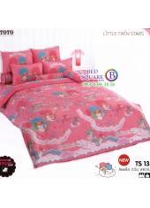 ผ้าปูที่นอนผ้านวมลายลิตเติ้ลทวินสตาร์ Little Twin Stars TS13 - TOTO