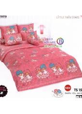 ผ้าปูที่นอนผ้านวมลายลิตเติ้ลทวินสตาร์ Little Twin Stars TS15 - TOTO