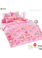 ผ้าปูที่นอนผ้านวมลายลิตเติ้ลทวินสตาร์ Little Twin Stars TS16 - TOTO