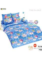 ผ้าปูที่นอนผ้านวมลายลิตเติ้ลทวินสตาร์ Little Twin Stars TS18 - TOTO