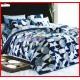 ลายยกเลิก - ผ้าปูที่นอนผ้านวมลายวงกลมกราฟฟิค พื้นสีกรมท่า ชุดเครื่องนอน TOTO