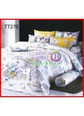 ผ้าปูที่นอนผ้านวมลายการ์ตูนเมืองนอกต่างประเทศสีขาวชุดเครื่องนอน TOTO