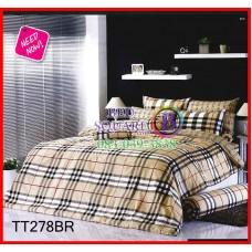 ผ้าปูที่นอนผ้านวมลายเบอร์เบอร์รี่สีน้ำตาล Burberry ชุดเครื่องนอน TOTO