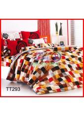 ผ้าปูที่นอนผ้านวมลายตารางโมเสกคละสีชุดเครื่องนอน TOTO