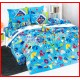 ลายยกเลิก - ผ้าปูที่นอนผ้านวมลายการ์ตูนเที่ยวทะเลชายหาดชุดเครื่องนอน TOTO