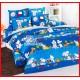 ลายยกเลิก - ผ้าปูที่นอนผ้านวมลายการ์ตูนลูกหมาพื้นสีน้ำเงินชุดเครื่องนอน TOTO