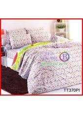 ผ้าปูที่นอนผ้านวมลายจุด โพลก้าดอท คละสี โทนสีชมพู Polka Dot