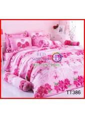 ลายยกเลิก - ผ้าปูที่นอนผ้านวมลายช่อดอกกุหลาบ หัวใจ โทนสีชมพู เครื่องนอน TOTO