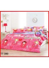 ผ้าปูที่นอนผ้านวมลายการ์ตูนเด็กผู้หญิงน่ารักสีชมพูสดชุดเครื่องนอน TOTO