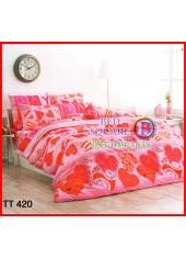 ลายยกเลิก - ผ้าปูที่นอนผ้านวมลายหัวใจสีชมพู คละแบบ ลายใหญ่สีชมพูชุดเครื่องนอน TOTO