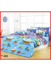 ผ้าปูที่นอนผ้านวมลายการ์ตูนโจรสลัดตัวเล็กโทนสีฟ้าน้ำเงินชุดเครื่องนอน TOTO