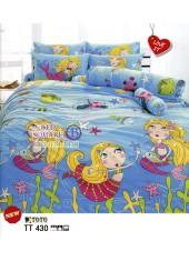 ผ้าปูที่นอนผ้านวมลายการ์ตูนนางเงือก TT430 ชุดเครื่องนอน TOTO