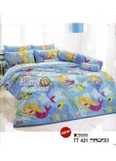 ผ้าปูที่นอนผ้านวมลายการ์ตูนนางเงือก TT431 ชุดเครื่องนอน TOTO
