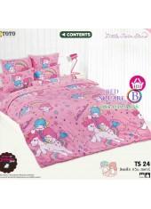 ผ้าปูที่นอนผ้านวมลายลิตเติ้ลทวินสตาร์ Little Twin Stars TS24 - TOTO