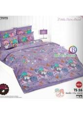 ผ้าปูที่นอนผ้านวมลายลิตเติ้ลทวินสตาร์ Little Twin Stars TS26 - TOTO